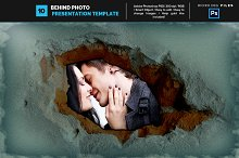 Behind Photo Frame Template 10
