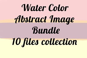 10 Water color splatter abstract set