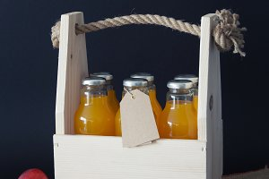 Orange juices in box