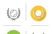 Baseball ball icons. Vector