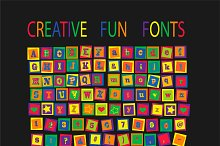 Creative fun fonts VECTOR