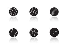 Sports game balls icons. Vector