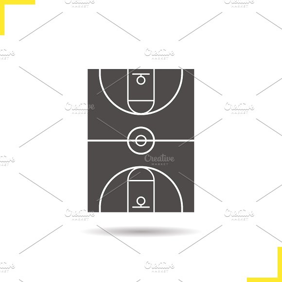 Basketball field icon. Vector