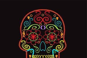 Skull vector neon