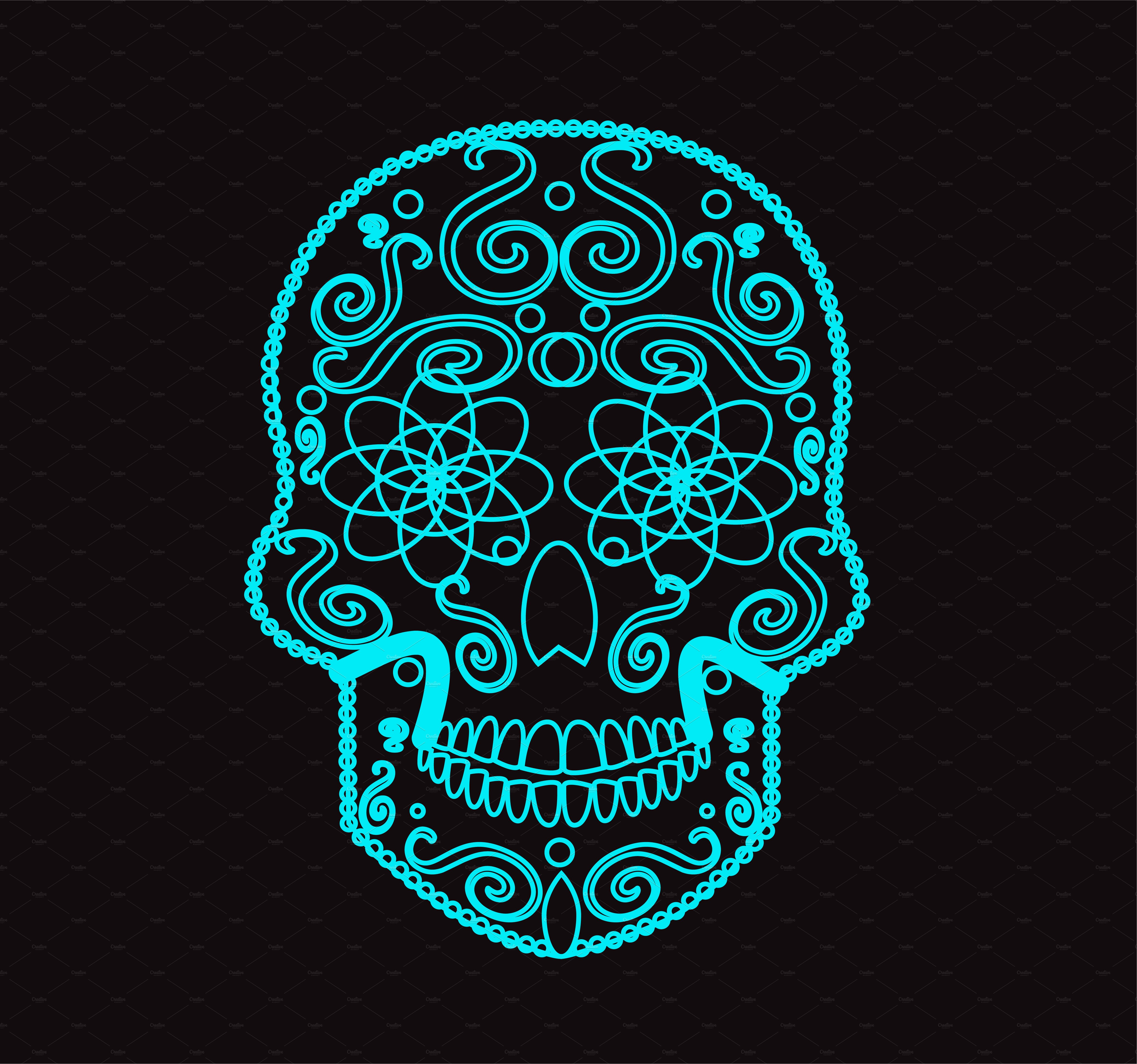 Skull vector icon neon ~ Icons ~ Creative Market