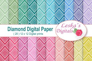 Harlequin Diamond Digital Paper