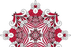 Ornate red symmetrical pattern