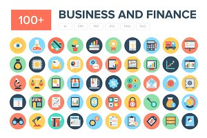 100+ Flat Business and Finance Icons