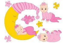 Infant Baby Girl Set