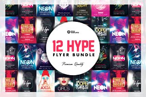12 HYPE Flyer Bundle