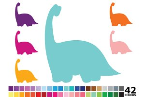 Rainbow Dinosaur - 42 Colors