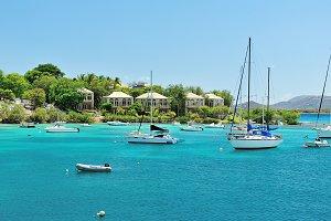 Yachts on caribbean