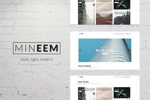 Mineem - Minimal Portfolio/Blog