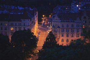 Prage at night
