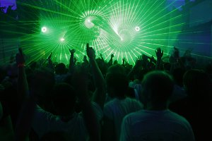 Laser at party