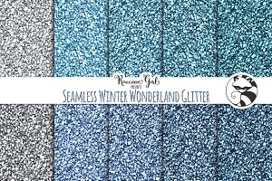 Seamless Winter Wonderland Glitter