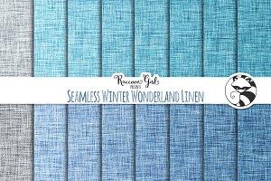 Seamless Winter Wonderland Linen