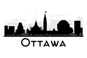 Ottawa City Skyline Silhouette