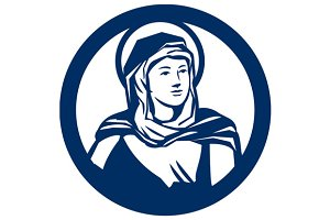 Blessed Virgin Mary Circle Retro