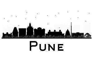 Pune Skyline Silhouette