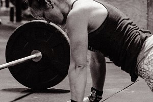 Crossfit Workout Black & White #10