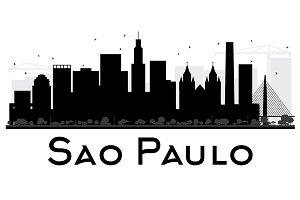 Sao Paulo City Skyline Silhouette