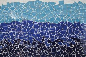 Tiled mosaic, trencadis