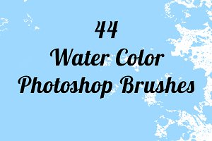 44 Water Color Brushes for Photoshop