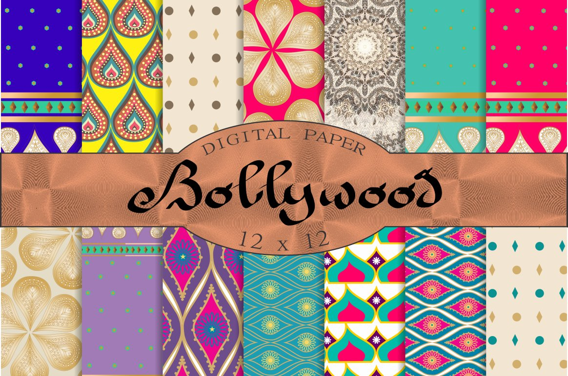 Bollywood digital paper ~ Patterns ~ Creative Market