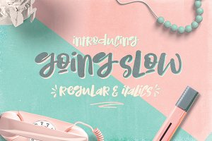 Going Slow Font Typeface