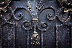 Old metal gate