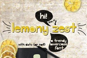 Lemony Zest Font Typeface
