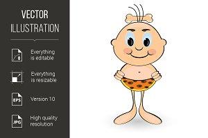 Funny cartoon caveman