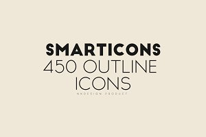 Smarticons - 450 Outline Icons