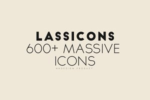 Lassicon - 600+ ICONS Pack