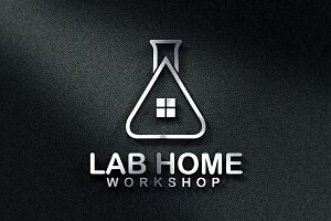Lab Home Logo Template