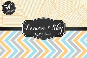 Lemon & Sky 30 Pattern Set