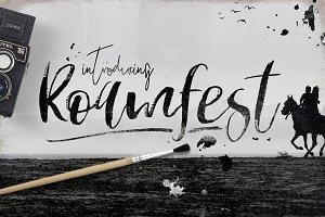 Roamfest Brush Script Font