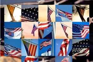 17 American  Flags