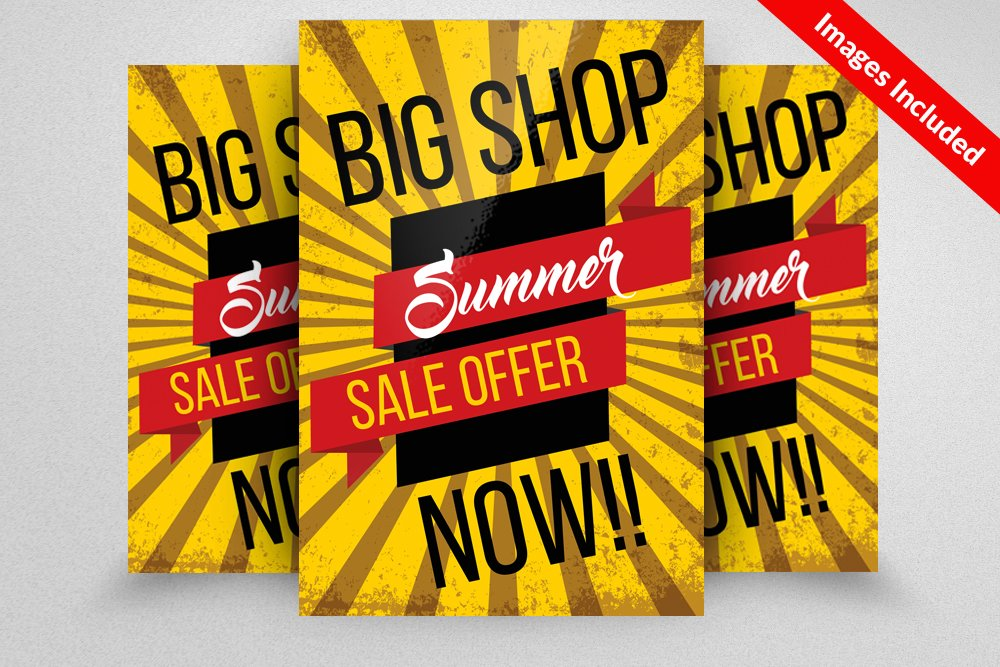 Big Sale Offer Flyer Template Flyer Templates Creative Market