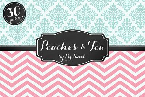 Peaches & Tea 30 Pattern Set