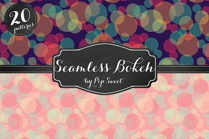 Seamless Bokeh 20 Pattern Set