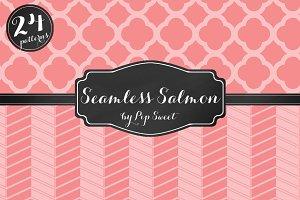 Seamless Salmon 24 Pattern Set
