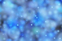 Bright blue magic light pattern