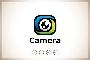 Swirl Camera Logo Template