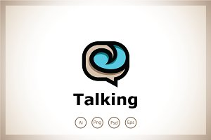 Talking Chat Forum Logo Template