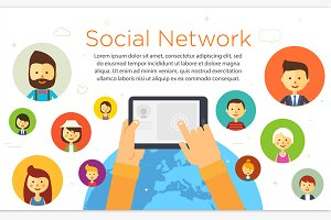 Online chat social network