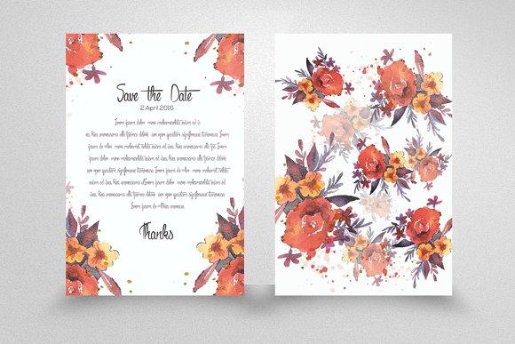 wedding invitation flyer template card templates on creative market. Black Bedroom Furniture Sets. Home Design Ideas