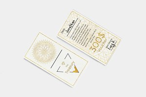 Gold Jewelry Store Gift Voucher