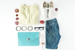 Clothes and accessories collage